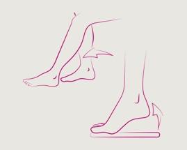 Slika koja pokazuje vježbu 2 za vene, klizeće stopalo
