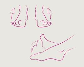 Slika koja pokazuje vježbu 3 za vene, uvrnuto stopalo