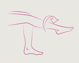 Slika koja pokazuje vježbu 4 za vene, rotirajuće stopalo