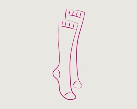 Ikonica kompresivnih čarapa za prevenciju tromboze